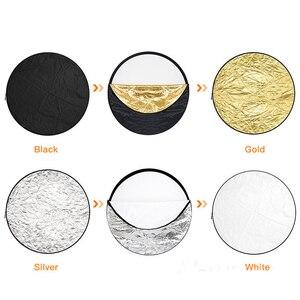 """Image 3 - 80 cm 31 """"5 in 1 Reflector Fotografia Ronde Flash Photo Studio opvouwbare light reflector Goud Zilver Wit Zwart doorschijnend"""