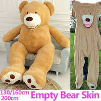 160cm,200cm 2m Giant size unfilled empty plush skins teddy bears Case pink Large stuffed Animal toy birthday Pillow Doll