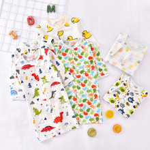 Baby Sleeping Bag Summer Soft Cotton Kids Sleep Sack Cute Cartoon Dinosaur Toddler Sleepwear Fruit Children Kick Quilt