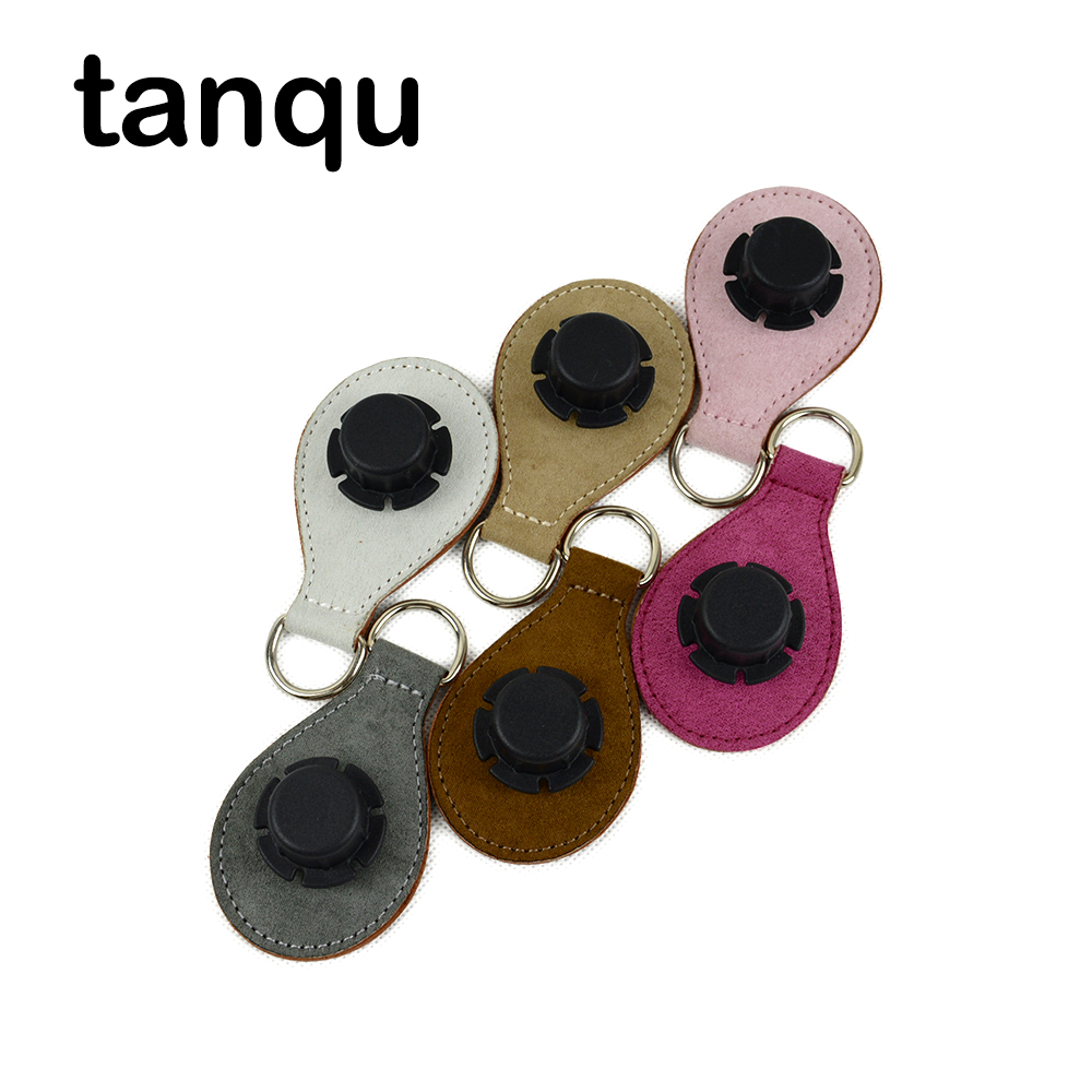 Tanqu 2 Pair 4 PC Cashmere Drop End For Obag Handle Flannel Matt Drop Attachment For O Bag Obasket DIY Bag