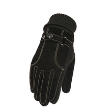 Pigskin Glove Man Ride The Touch Screensaver Warm Windbreak Down Thickening Cotton Outdoors A Bike Motorcycle