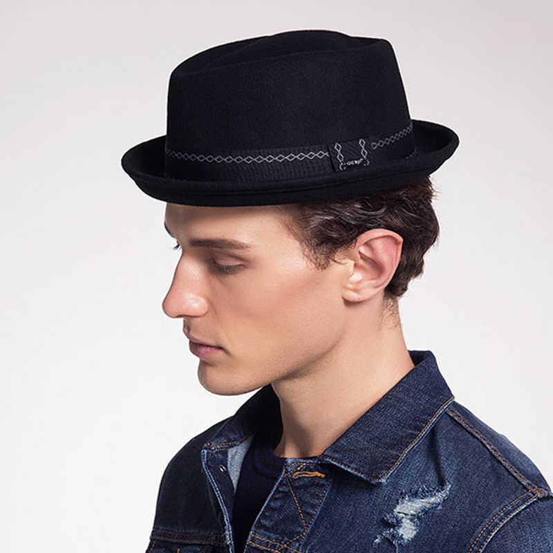 3ec645c5408acc Detail Feedback Questions about Sunlynn winter Women Bowler Hat Men Woolen  Fedora Vintage Short Brim Crushable Jazz Hat/Felt Hat on Aliexpress.com |  alibaba ...