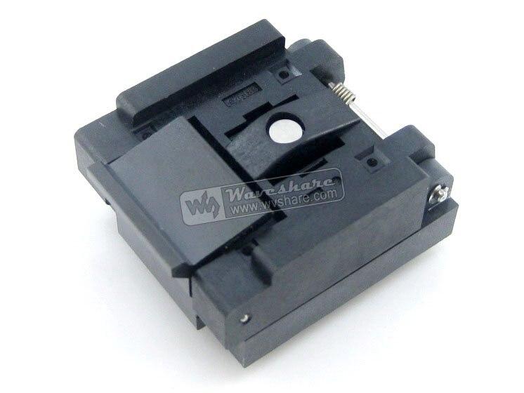 module QFN56 MLP56 MLF56 QFN-56BT-0.5-01 Enplas QFN 8x8 mm 0.5Pitch IC Test Burn-In Socket with Ground Pin qfn20 mlp20 mlf20 qfn 20b 0 5 01 qfn enplas ic test burn in socket programming adapter 4x4mm 0 5pitch free shipping