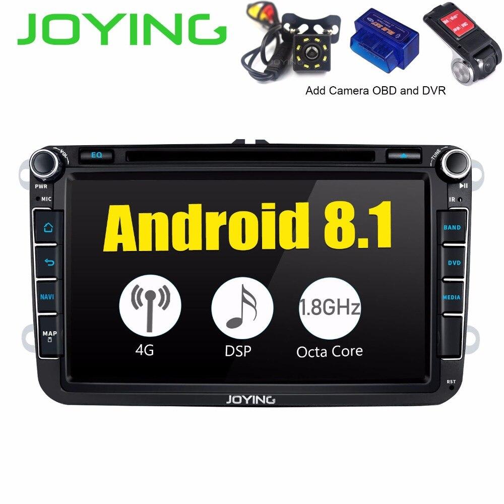 8Head Unit DSP Android8.1 Car Radio Stereo For Volkswagen VW Passat Skoda Golf GPS Navigation Music FM Player Built-in 4G Modem