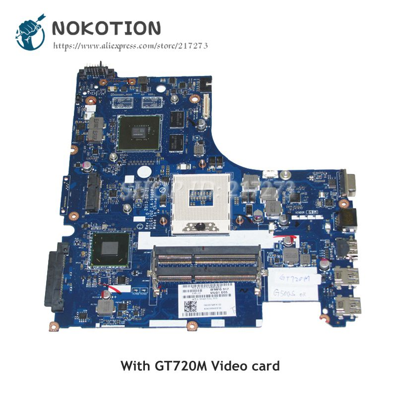 NOKOTION For Lenovo G500S Laptop Motherboard 900003095 LA-9901P MAIN BOARD HM76 DDR3 GT720M 1GB la 7982p laptop motherboard for lenovo g580 p580 p585l main board hm76 gma hd ddr3
