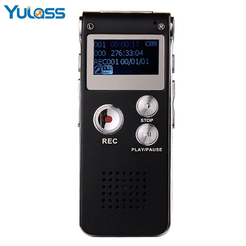 Yulass 16 ГБ цифровой Аудио Диктофон Регистраторы Малый USB черный Бизнес профессионалов Запись ручка с WAV MP3 запись