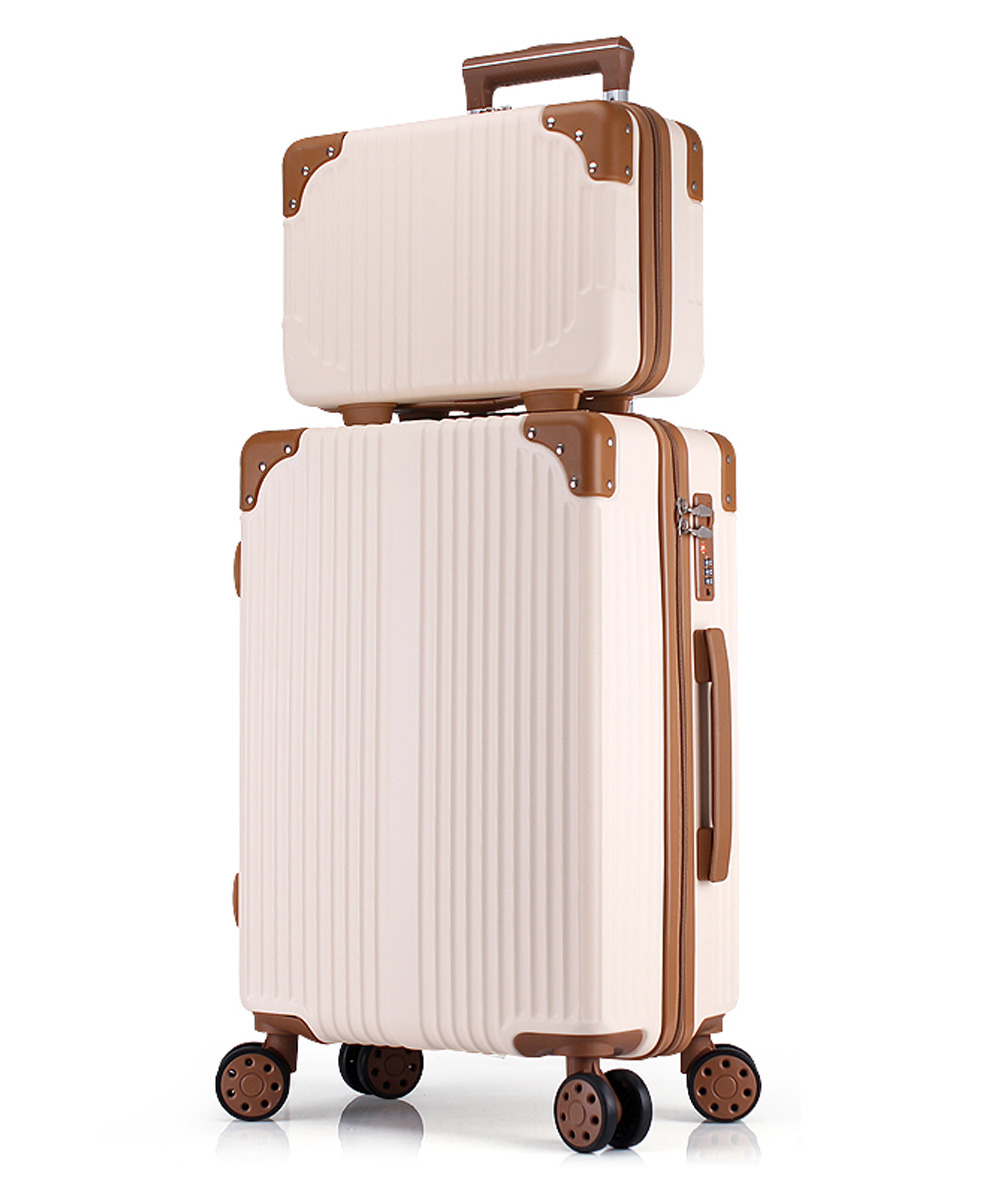 Women Luggage Set Large Spinner Suitcase and Cosmetic Case 2PCS Sets Coded Suitcase Sets 20/22/24/26/28 Inches
