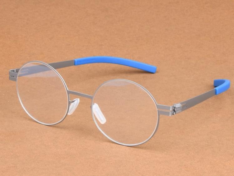 f546c06351b987 Beste Koop Roestvrij Retro Ronde Mannen Brillen Optische Bril Frame Vrouwen  Stijlvolle Lichtgewicht Ronde Brillen oculos de grau Goedkoop