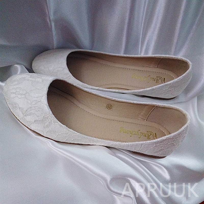 Classic lace flats shoes for woman plus size ladies girls dancing party daily white lace flats shoes womens new coming in stock