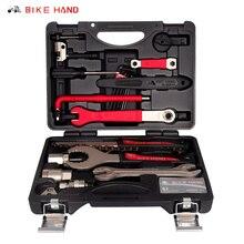 Набор инструментов для обслуживания велосипедов BIKEHAND 18 в 1, набор инструментов для ВВ, нижний кронштейн, Кривошип, ступица, педаль, спица, цепной инструмент, трубка, Ремонтный комплект, YC 728