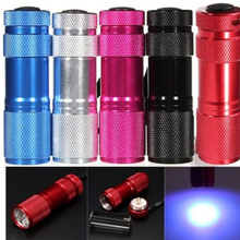 Cool MINI 9 LED Ultra Violet UV Blacklight Portable Flashlight Torch Light Lamp