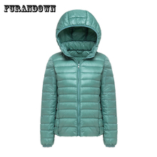 autumn winter down jackets for women Brand designer Hooded Coat Ultra Light Duck Down Jacket