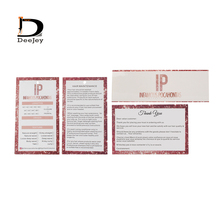 Paper Hair-Bundle Customized Packaging-Kits Wrapper You-Card Thank