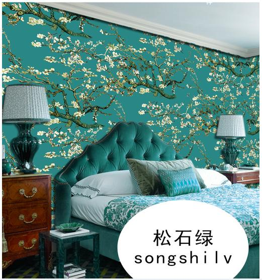 Custom 3d photo wallpaper 3d muurschilderingen behang Turquoise ...