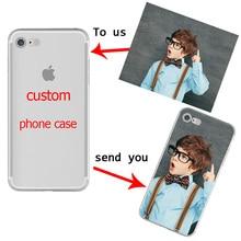 Design personnalisé BRICOLAGE Photo pour iphone 11 PRO X XR XS MAX 7 8 6 Plus Souple TPU pour Samsung Galaxy S10 S9 S8 Plus S10e Capa