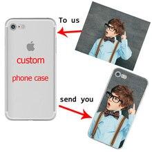 Niestandardowy projekt DIY zdjęcie etui na telefony dla iphone 11 PRO X XR XS MAX 7 8 6 Plus miękka TPU dla Samsung Galaxy S10 S9 S8 Plus S10e Capa