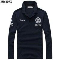 2015 Men S Boutique Autumn Slim Fit Lapels Casual Pure Cotton Long Sleeve Polo Shirts Male