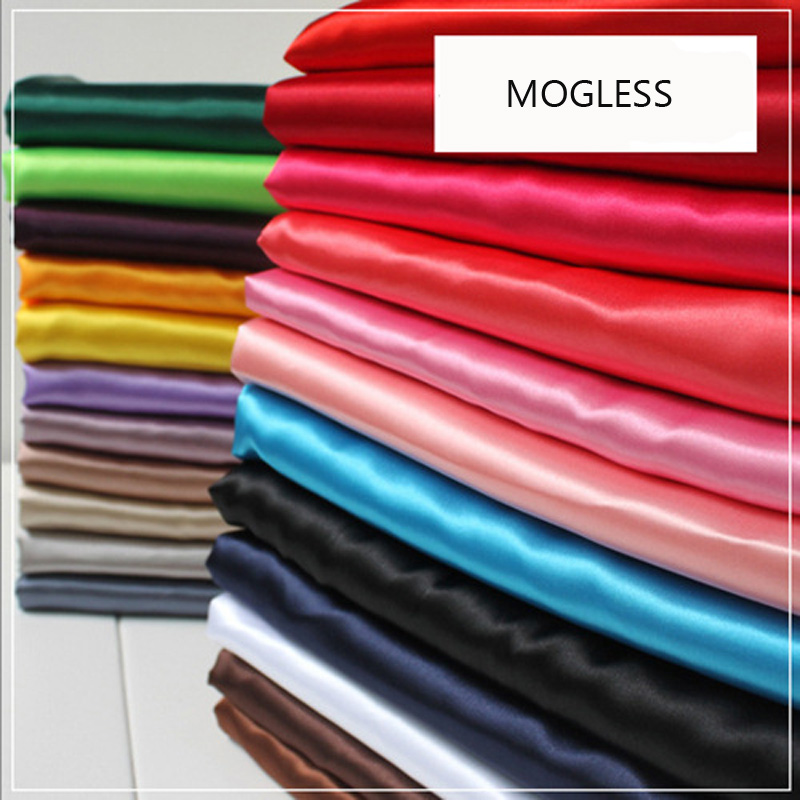 Mogless 2018 New Fashion Pure Color True Silk   Scarf   For Women Small Silk   Scarf   Bag   Scarf   Accessories Wrist Decoration 30 Colors