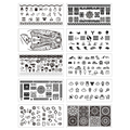 10 Sheets/set Nail Art Stamping Plates 12*6cm Nail Stamping Image Template Stencils Manicure DIY Decoration NJX 001-010