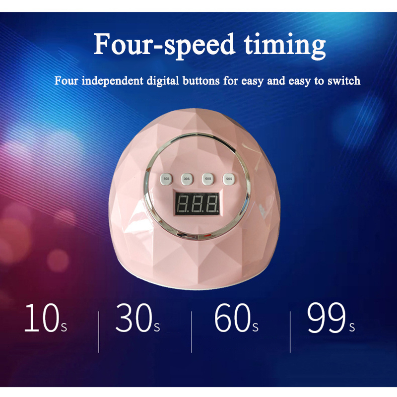 Hot 86W UV LED Lamp Nail Dryer 39 LEDs Double light source Nail Lamp For Curing UV Gel Nail Polish With Sensor Timer LCD Display in Nail Dryers from Beauty Health