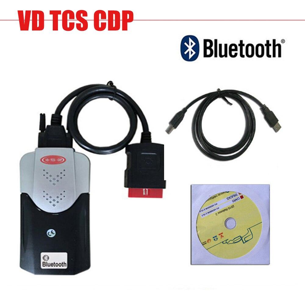 Con Bluetooth nuevo VCI VD TCS CDP PRO PLUS para coches camiones 3 en 1 con keygen 2015,3 software obd2 herramienta de escaneo de diagnóstico Obd2 escáner Mini elm327 Bluetooth V2.1 / V1.5 OBD2 herramienta de diagnóstico de coche ELM 327 Bluetooth para Android/Symbian para el protocolo OBDII