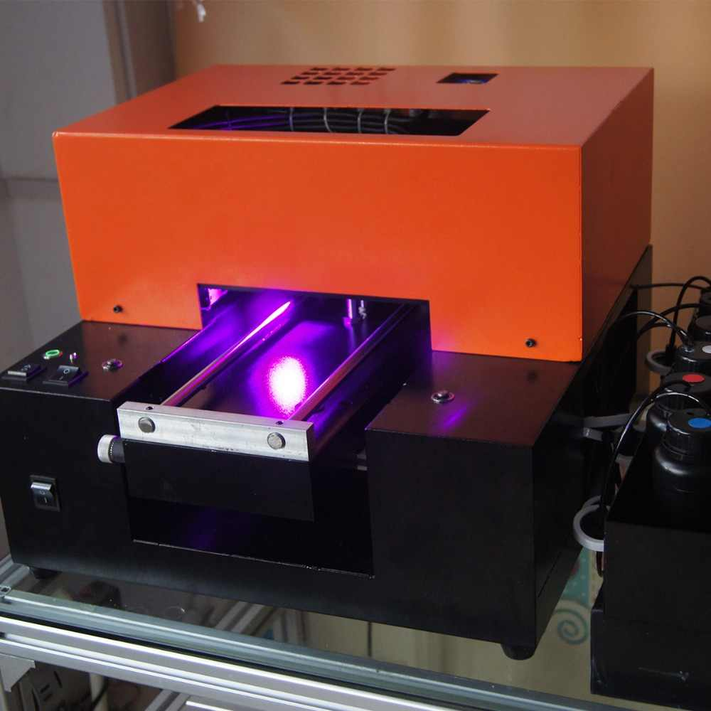 التلقائي A4 حجم LED UV طابعة مسطحة متعددة الوظائف طابعة حافظات الهواتف بطاقة