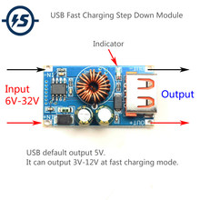 USB DC Step-Down Module 12V 24V To QC2.0 QC3.0 Fast Charge Mobile Phone Charging Board For Apple Huawei FCP Quick Charger(China)