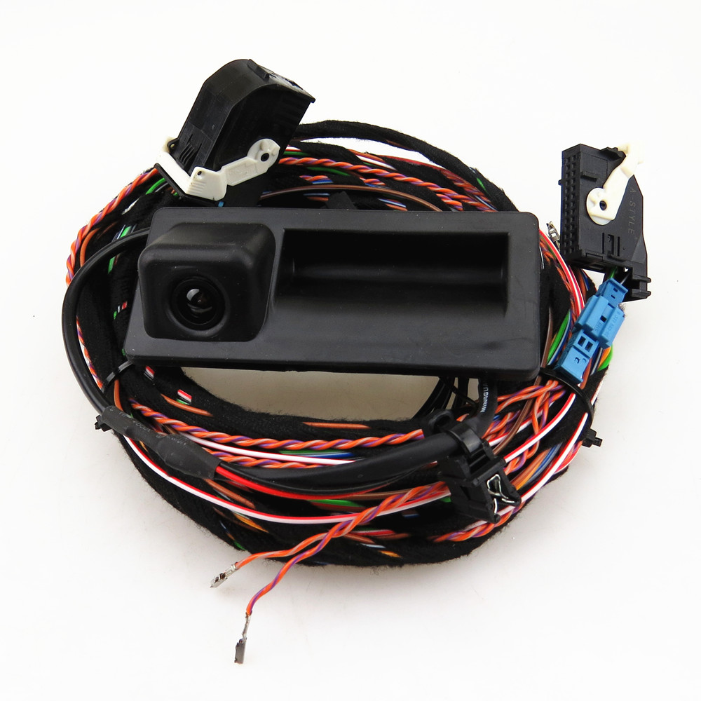A-STYLE For VW Tiguan Car Parking Rear View Reverse Camera With Plug Harness Cable Parts RCD510 RNS510 5ND 827 566 C 5ND827566C car rear view cameras reversing reverse camera for vw golf jetta tiguan rcd510 rns315 rns310 rns510