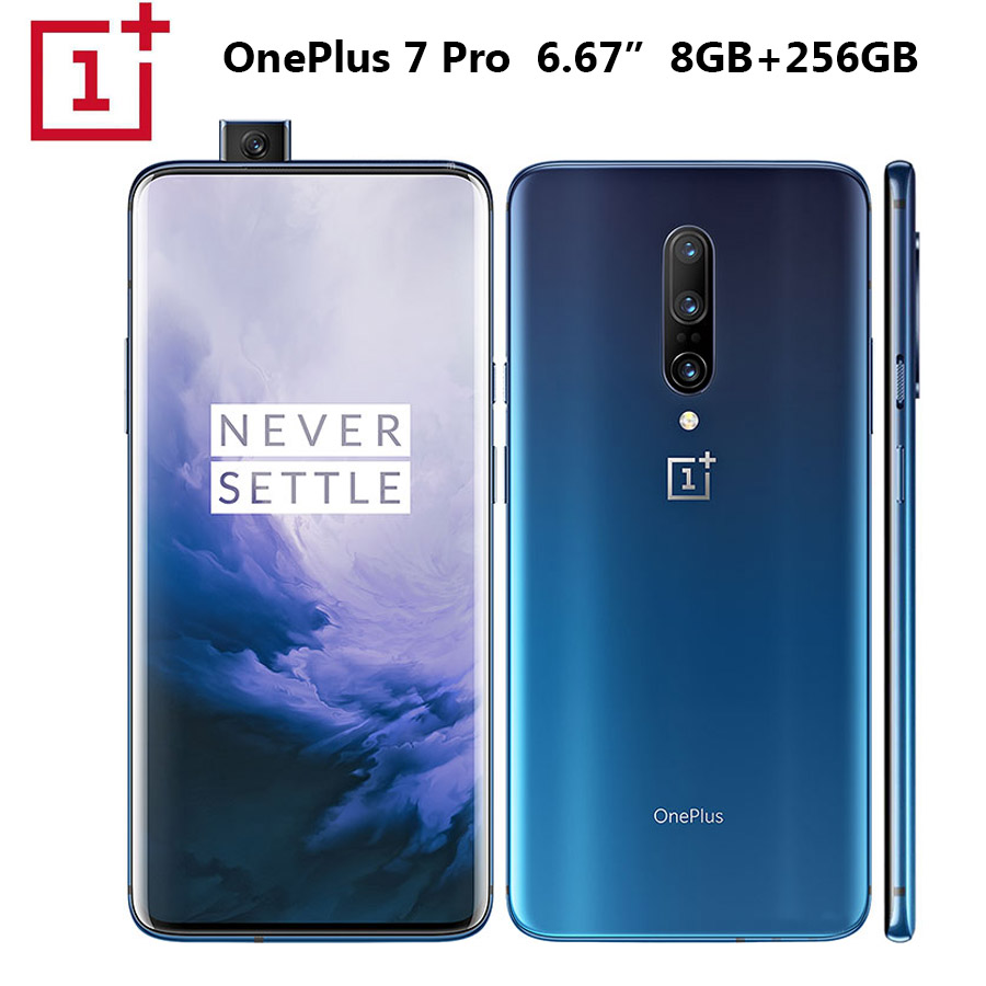 OnePlus 7 Pro Telefono Cellulare 8GB 256GB Snapdragon855 Octa core Da 6.67 Pollici 3120x1440p 19.5: 9 Fullscreen 4000mAh 48MP + 16MP Fotocamera NFC