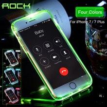 Рок Полу-прозрачный Crystal Clear трубки серии защиты Дело светодиодной вспышкой чехол для iPhone 7 Чехол для iPhone 7 Plus shell