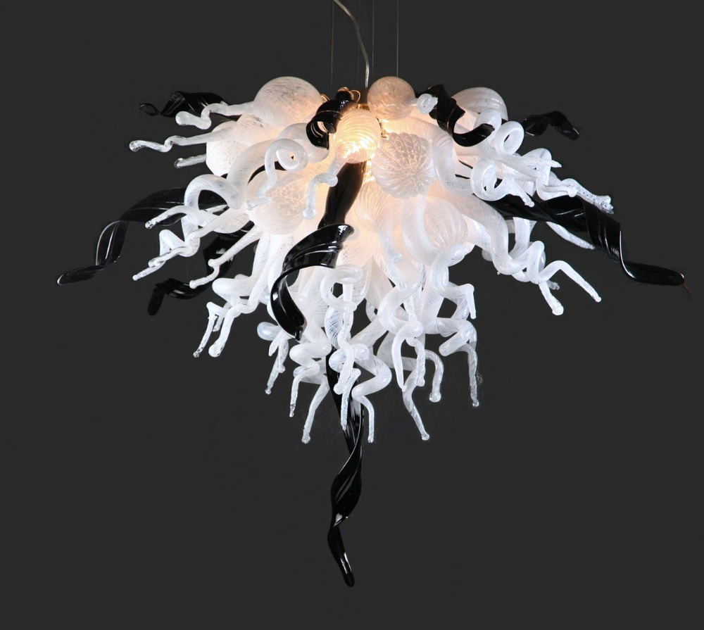 Classic White Color Art Glass Lamp Chihuly Murano Glass LED Handmade Blown GLass Chandelier light Fixture fancy turquoise blue led murano glass chandelier lightings art store decor