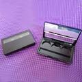 50 Unids/lote 3G Caja de Sombra De Ojos Negro con Espejo Tapa de Cacerola De Aluminio Vacío Polvo Compacto Cosmético contenedor Envases Cosméticos BRICOLAJE