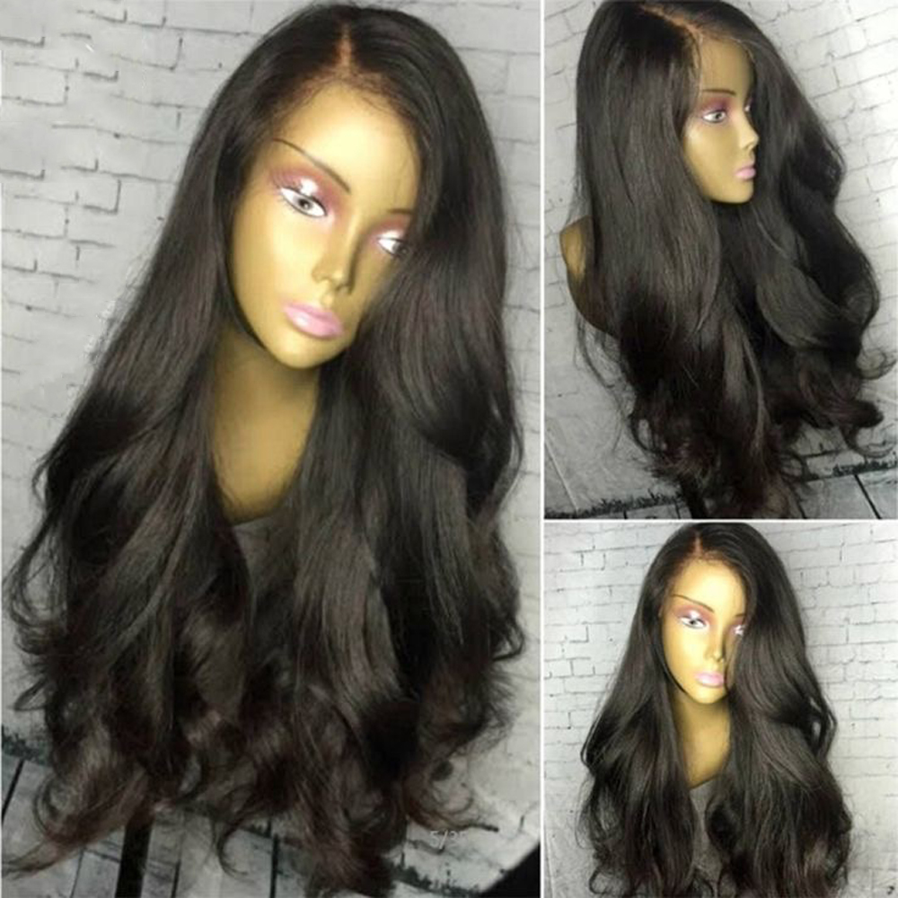 13x6 Lace Front Human Hair Wigs With Baby Hair Black Wig PrePlucked Brazilian Body Wave 360 Frontal  Remy Hair Wig Full Lace Wig