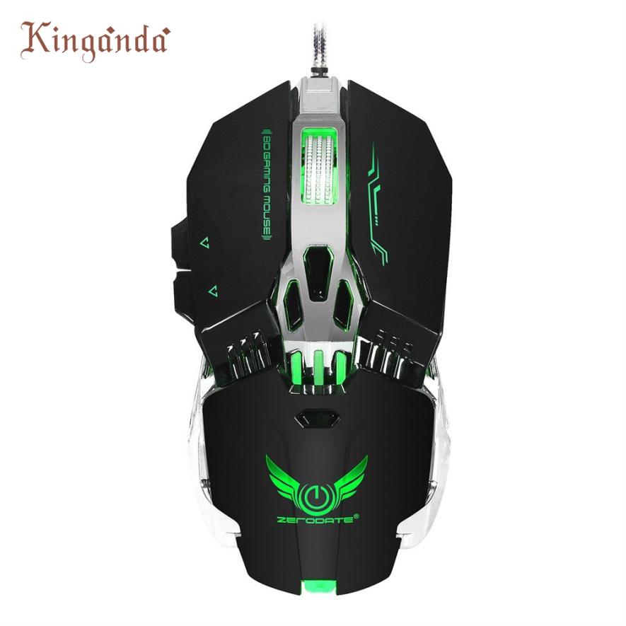 Wired Optical Gaming Mouse 3200DPI 6Buttons With 4 - level adjustable DPI LED Light Drop Shipping Gift 17Aug15