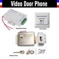 Электрический Дверной Замок + блок Питания + Дверь Кнопка Выхода Переключатель для Видео-дверной звонок Система Контроля Доступа