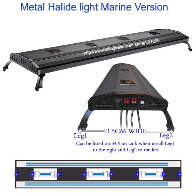 60 Metal Halide HQI + T5 770 W/1070 W Marine corail sps plante d'eau douce Aquarium Pour Animaux Aquatiques Fish tank Lampe De Lumière d'appareils D'éclairage