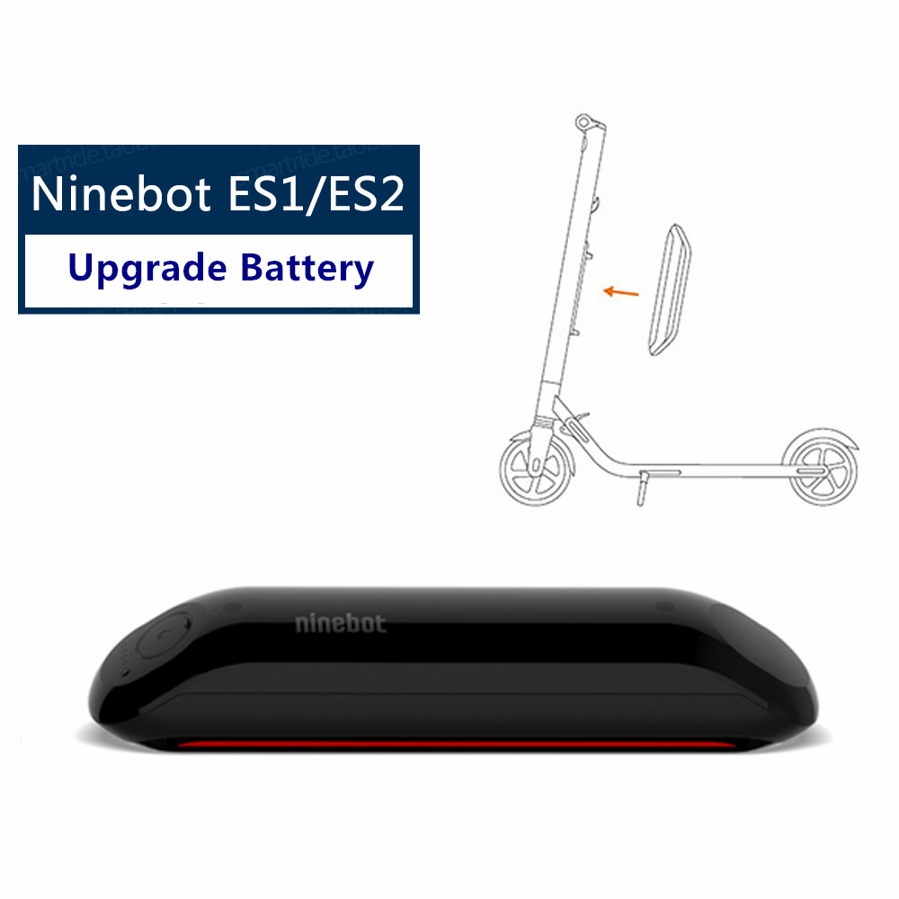 Original Ninebot Upgrade Battery Kit for KickScooter ES1 ES2 Smart Electric Scooter foldable lightweight hover board skateboard ninebot electric scooter circuit board motherboard mainboard for ninebot kickscooter dashboard controller skateboard original