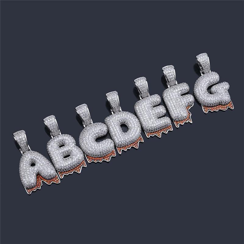 bubble letter necklace