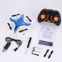 RC drone D6 Mini Neon Drone RC Quadcopter Aircraft with Altitude Hold 3D Flip LED Light Headless Mode 360 Flip for Kids Toys