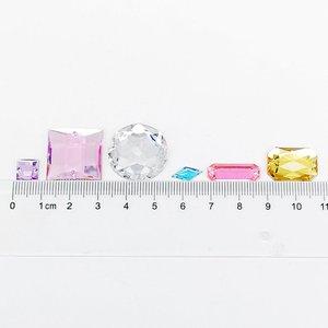 Image 2 - Suoja strass mélangés en cristal acrylique, 100/300 pièces/lot, perles brillantes, Face plate, Art des ongles, décoration, faire soi même, bijoux