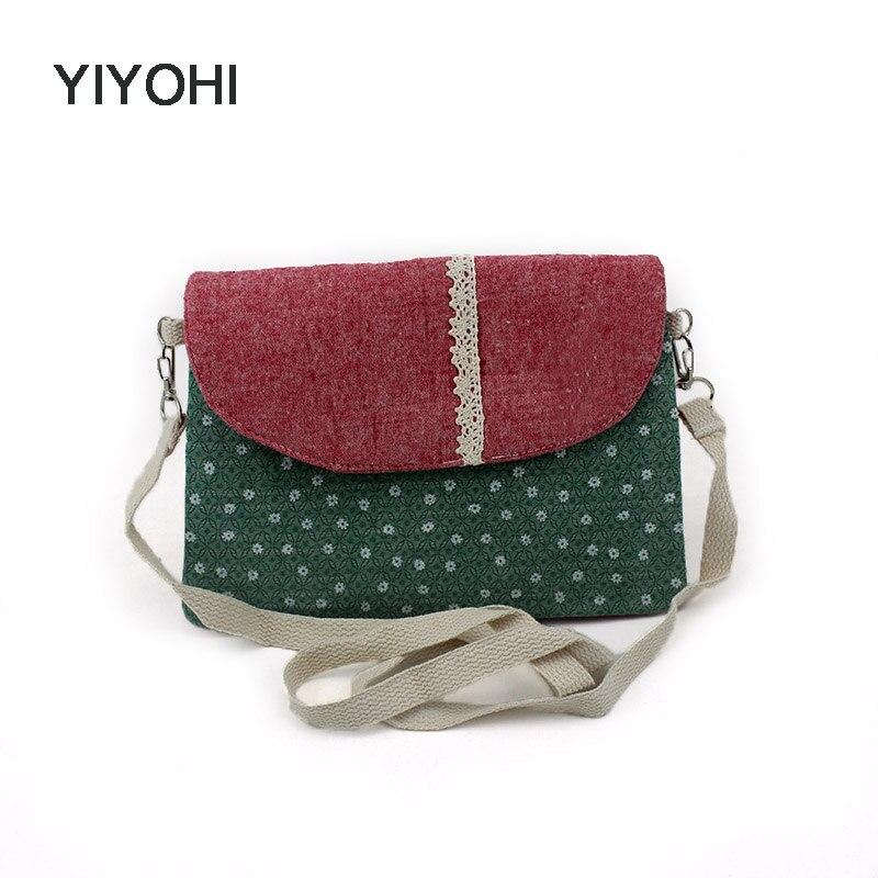 Canvas Small Single Shoulder Bag Star Messenger Girls Crossbody Bag Mobile Phone Bag