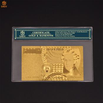 Światowy papier walutowy włochy 5000 Lira w 24k złota fałszywe banknoty Bill pamiątkowe kolekcje upominków tanie i dobre opinie Europa Patriotyzmu Pozłacane SMJY Banknote Italian Currency 1000 2000 5000 10000 50000 100000 Lira As Real Size Copy Genuine Banknotes