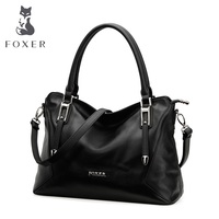 FOXER Fashion Famous Brand Shoulder Tote Bags Luxury Ladies Leather Gold Satchels Bags Free Shipping