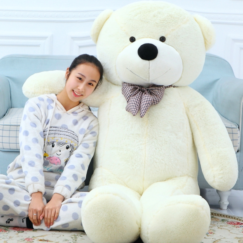 Giant teddy bear soft toy 200cm/2m giant big stuffed toys animals plush life size kids baby dolls lover toy Christmas gift big size teddy bear ted 2 plush toys in apron 45cm soft stuffed animals ted bear plush dolls for baby kids christmas gifts