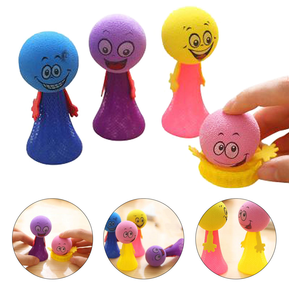 Novelty Bouncing Elf Toys for Children Squeeze Jumping Bounce elf Joke Toys for Kids Party Game Kindergarten Easter Present Car phone