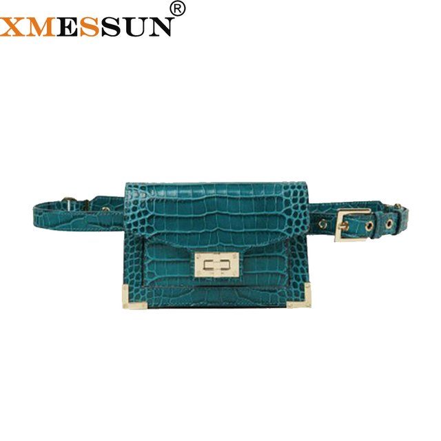 XMESSUN Waist Bag Women Belt Bag Women Leather Chain bag Fashion Vintage Serpentine Strap Waist Puffs Ladies Shoulder Bags F179