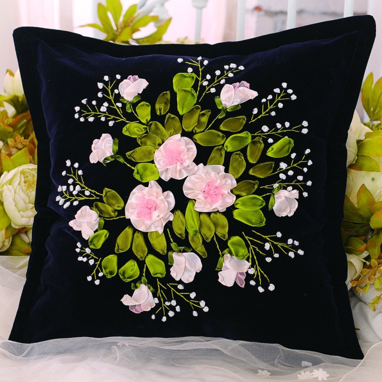 Aliexpress buy cm ribbon embroidery pillow kit