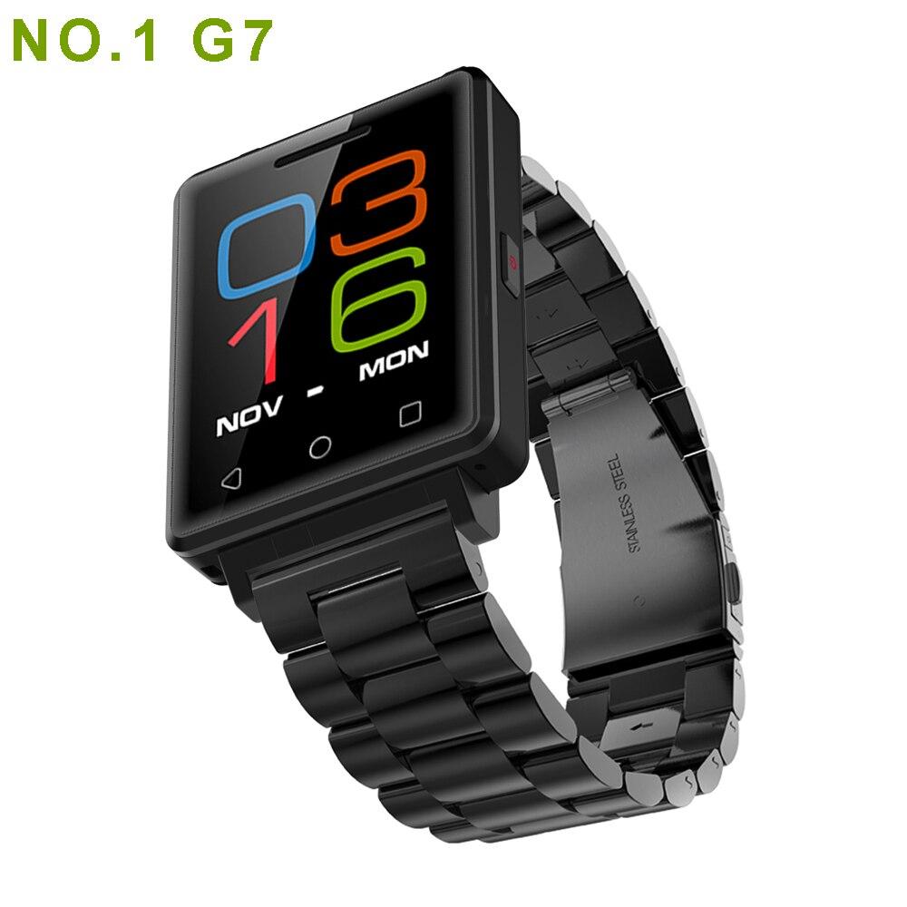 imágenes para Nuevo Llega NO. 1 Reloj Teléfono Inteligente G7 MTK2502 Apoyo SIM TF tarjeta de Monitor de Ritmo Cardíaco Reloj Bluetooth para Android ios Teléfono Inteligente
