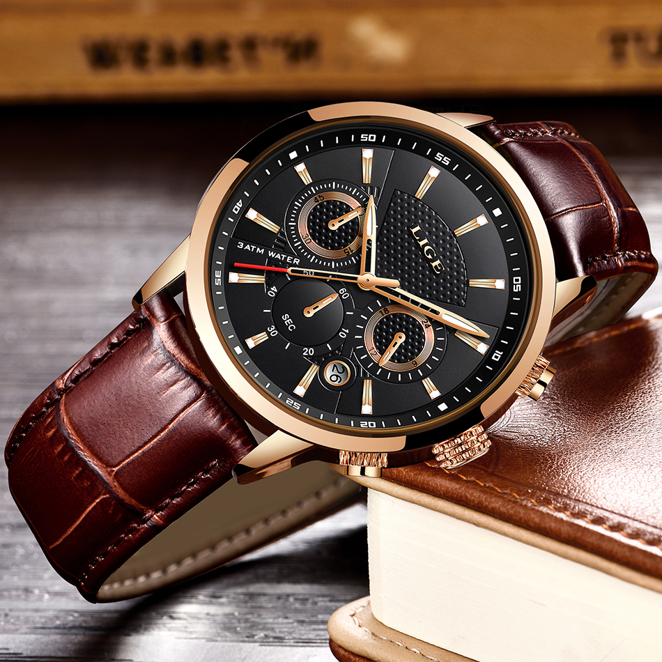 HTB1F6fzVmzqK1RjSZFLq6An2XXaV LIGE 2020 New Watch Men Fashion Sport Quartz Clock Mens Watches Brand Luxury Leather Business Waterproof Watch Relogio Masculino