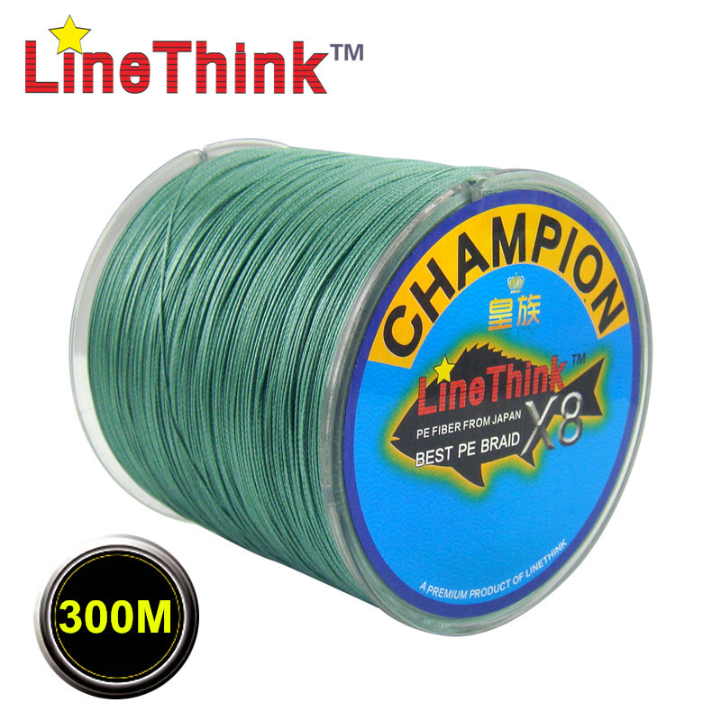 300M GHAMPION LineThink Brand 8Strands 8Weave Best Quality Multifilament PE Braided Fishing Line Fishing Braid Free Shipping